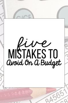 5 Mistakes to Avoid on a Budget - things you can do to be better with budgeting. Financial Success, Financial Literacy, Budgeting Finances, Budgeting Tips, Tracking Expenses, Budget Organization, Organizing Ideas, Living On A Budget, Frugal Living