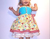 """SALE..Buy 2 get 1 free..""""Cindy Lou""""....Flutter Strap Girl's Reverse Knot Dress Side Tie Instant Download PDF Sewing Pattern, 6-12 M to 8"""