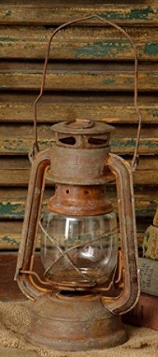 New Primitive Country Rusy RUSTIC RAILROAD LANTERN Candle