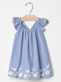 Embroidered flutter dress Product Image