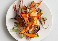 Carrot Salad with Yogurt and Coriander — In the mood for a salad outside of the norm? Try this beauty! Via @Bonnie Helton Appetit Magazine