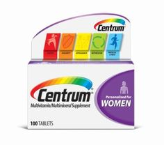 Centrum Ultra Women Under 50, 100 ea     Centrum is the no. 1 selling multivitamin brand. Complete from a to zinc (refers to all nutrients with an RDI). Supports breast & bone health. Emerging science suggests that vitamin D helps support breast health; Centrum Ultra Women's contains calcium and vitamin D to help build strong bones.  Centrum Ultra Women's applies the latest nutritional science and contains more nutrients to bring you the most complete multivitamin specially formulated for…