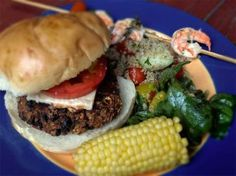 Moosewood chili-burger