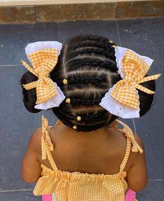 Black Baby Girl Hairstyles, Cute Toddler Hairstyles, Childrens Hairstyles, Natural Hairstyles For Kids, Kids Braided Hairstyles, Natural Hair Styles, Kid Braid Styles, Little Girl Braids, Babies
