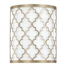 Banish the darkness from your space with this elegant Ellis two-light wall sconce. The metal material features a brushed-gold finish and an intricate design, adding a touch of class to your decor.