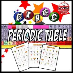 It's bingo like it's never been played before! 30 unique bingo cards 35 elements of the periodic table 5 questions for each element, you choose how easy or difficult to make it! This is a great game for differentiation.