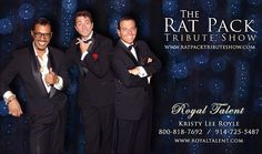 www.ratpacktributeshow.com  The top Rat Pack Impersonators from Las Vegas. They will travel!  www.royaltalent.com    Booked By Kristy Royle     The Rat Pack Tribute is Undying and Classic This Rat Pack Tribute impersonators Show will take you back towards the wonderful days of Vegas once the Rat Pack ruled th