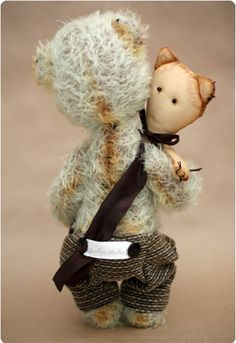 "Markus from ""Pudra studio"".  Artist teddy bears by Irma Papeikaite."
