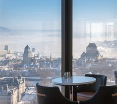 LEMAYMICHAUD | CIEL | Québec | Architecture | Design | Restaurant | Eatery | Hospitality | Bistro | Bar | Natural light | View | Sky | Seating | Chairs | Tables Bistro, Bar, Ciel, Architecture Design, Tables, Future, Inspiration, Mesas