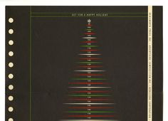 If anyone can turn a Christmas tree into an esoteric design joke, it would be Milton Glaser. The proof is in the archives of the Herb Lubalin Center at Cooper Union, which has in its possession a holiday card designed by Glaser forthe typography company Advertising Composition Inc.—adorned with a s