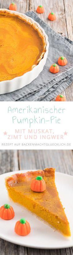 Im Herbst kann ich nicht genug von Kürbiskuchen bekommen! Kürbispüree mit leckeren Gewürzen und knusprigem Mürbeteigboden - süßer Kürbis Pie schmeckt einfach herrlich!