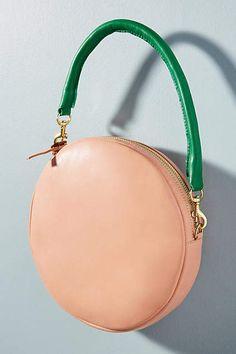 d1aafd7a83966 Clare V. C est Chic Circle Clutch  ad Red Handbag