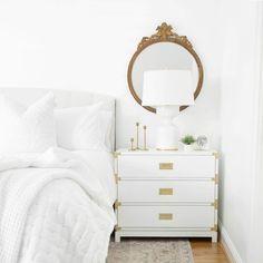 White Gold Room, White Bedroom Decor, Gold Bedroom, Bedroom Ideas, White Bedrooms, Master Bedrooms, Bedroom Inspo, Bedroom Inspiration, Kitchen Inspiration