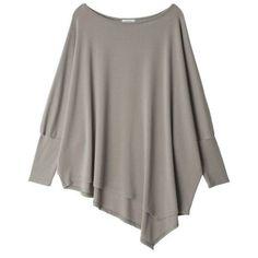 Women Autumn Oversized Irregular Long Shirts Batwing SleeveCasual Loose Tops Big size ropa mujer blusas