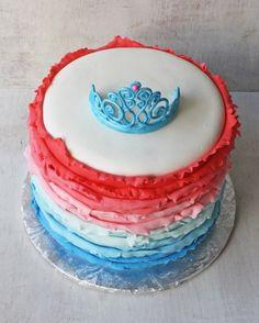 Ombre Ruffles Princess Cake with Gum Paste Tiara