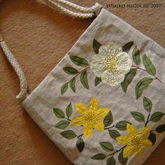 floral applique bag [Large]