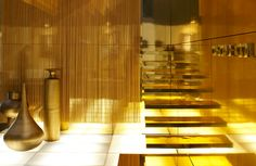 Design from the Demand side - celebrate courage, excellence & diversity Metal Curtain, Environmental Graphics, Steel Mesh, Retail Space, Environment Design, Luxury Shop, Work Inspiration, Drapery, Wall Lights