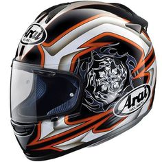 Arai Chaser Helmet. One of the most remarkable new helmet models for the new season must be the brand-new Arai Chaser. The Chaser is designed and developed as a truly innovative design, with much atte...
