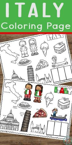 If you have young ones at home, these FREE Italy coloring sheets will be great for learning about Italy from home. Preschool Lessons, Lessons For Kids, Preschool Activities, Preschool Kindergarten, Flag Coloring Pages, Coloring Sheets For Kids, Free Coloring, Fairy Coloring, Free Printable Worksheets