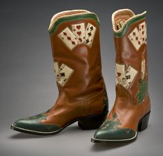 Playing Card Boots - Abraham Rios, 1940s