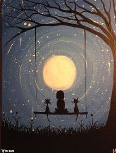 30 Best Canvas Painting Ideas for Beginners - Nezih D. - - 30 Best Canvas Painting Ideas for Beginners - Nezih D. Art And Illustration, Best Canvas, Inspiration Art, Beginner Painting, Painting Acrylic Beginners, Painting Ideas For Beginners, Easy Sketches For Beginners, Moon Art, Moon Moon