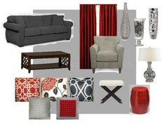 Amazing Red Gray And Black Living Rooms and 25 Best Grey Red Bedrooms Ideas On Home Design Red Bedroom Themes 31327 is among photos of Living Room concepts Living Room Colors, Living Room Designs, Brown Living Room Decor, Grey And Red Living Room, Red Furniture Living Room, Living Decor, Living Room Grey, Room Decor, Living Room Red