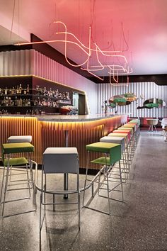 25Hours Hotel Zurich West, Switzerland by Alfredo Häberli Design Development and Aeberli Vega Zanghi Architects :: bar