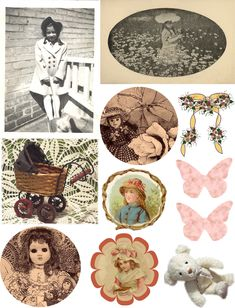 Free collage sheets for your own use Use with glass tiles, tray pendants for jewelry, fridge magnets, wood shapes @Kim at eCrafty.com #ecrafty
