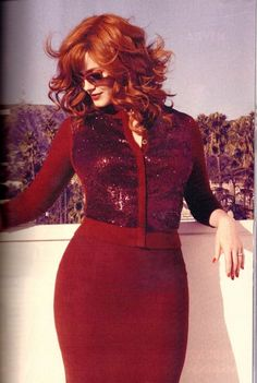 Glamourous shot of Christina Hendricks. Love it! For more body positivity and curves, check out my blog :)