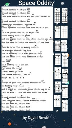Space oddity By David Bowie Ukulele chords Ukulele Chords Songs, Lyrics And Chords, Piano Songs, Guitar Songs, Music Tabs, Ukulele Tabs, Kari Jobe, Florence Welch, Pentatonix
