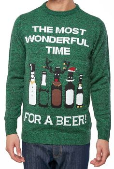 0ea15d419b (Ad)eBay - Christmas Jumpers Green Novelty Funny Xmas Knit Wonderful Time  For a