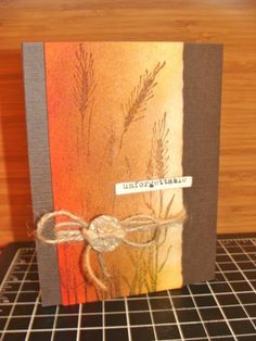 handmade card: Deep Wood Tones by girlgeek101 .... luv the rich ombre in Autumn colors ... wheat stamped in an impressionistic way ... lovely!!