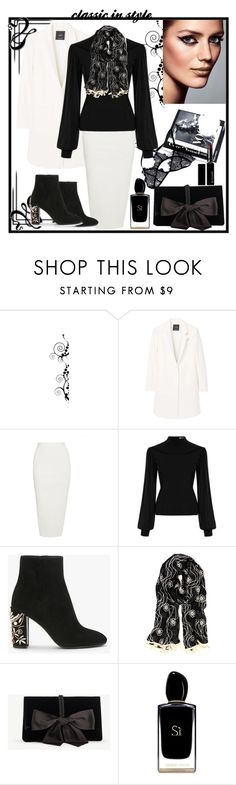 """""""Classic in style"""" by natalyapril1976 ❤ liked on Polyvore featuring MANGO, Rick Owens, RQ, Ann Taylor, Giorgio Armani and Witchery"""