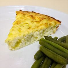 Fit Food Ideas: Quiche sem massa (ovos, iogurte, alho poro, ricota)