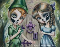 Peter Pan And Wendy LIMITED EDITION print by SimonaCandiniArt