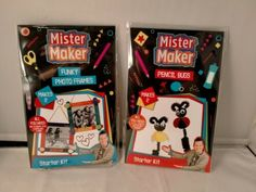 Mister Maker Starter Kits – Pencil Bugs & Funky Photo Frames – 2 Kits Set | eBay Fun Diy Crafts, Craft Stick Crafts, Crafts For Kids, Googly Eye Crafts, Feather Art, Loom Bands, Puzzles For Kids, Rainbow Loom, Paint Set