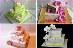 Hochzeitstorte mit Orchideen: Designideen mit Fotos