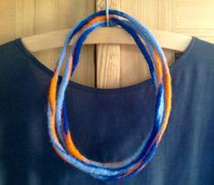 """Filzketten - Filzkette """"Blau-Orange"""" - ein Designerstück von Rita-Hella bei DaWanda"""