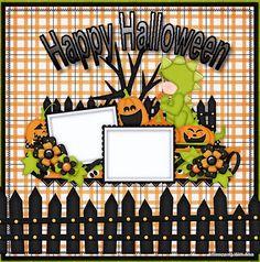 halloween scrapbook layouts   Halloween Layout