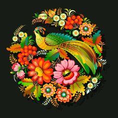 svekloid Петриківський розпис #петриківка #петриковка #україна #petrykivka #petrikovka #vectorart #illustrator #art #ukraine #flowers #leaf #branch #bird