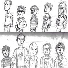 #OGaraxeHermético: My Greatest Hits I One of my first homework was drawing The Big Bang Theory cast. Did two versiones: one cartoony and one more realistic. Uno de los primeros ejercicios que hice fue un dibujo del elenco de Big Bang. Hice dos versiones: una más caricatura y otra más realista. #thebigbangtheory #bigbang #tbbt #sheldon #penny #leonard #tvseries #cartoon #illustration #draw #sketch #drawing #art #artistsoninstagram #dailysketch #cute #adorable #chibi #kawaii #fanart…