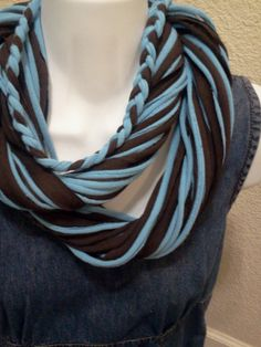 Recycled T Shirt Scarf. $15.00, via Etsy.