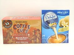 Trader Joe's Single Serve Coffee Cups (box of 12) Medium Roast 100% Arabica Coffee plus International Delights Single Serve French Vanilla Coffee Creamer (box of 24) -- Discover this special product, click the image : K Cups