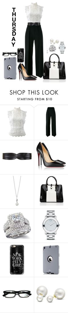 """Thursday"" by misshonee ❤ liked on Polyvore featuring Oscar de la Renta, Neil Barrett, BCBGMAXAZRIA, Christian Louboutin, Elements, Movado, Casetify and Allurez"