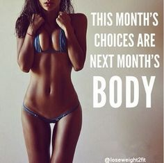 This month's choices are next month's body. 💪🏽 💚💛❤ Share it with your friends and family if you agree!  😃 Follow us for more! #weightlossstruggle #weightlosstransformation #weightlossgoals #weightlossdiary #weightlosscommunity #weightlossproblems #weightlosswarrior #weightlossmission #weightlossdiaries #weightlossblog #weightlossadvice #weightloss2017 #weightlossinspiration #weightlossprogress #weightlosschallenge #weightlossmotivation #weightloss #weightlossjourney