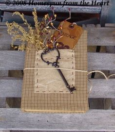 192 best diy primitive crafts images on pinterest country fabric covered old book i have some of these solutioingenieria Gallery
