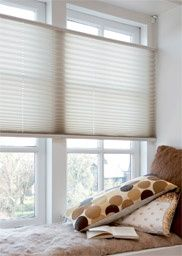 Definitely best with double hung windows or awning windows | Plissé Shades Top Down / Bottom-Up - cellular blinds