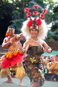Polynesian dancer riding dick