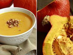 Delicious blog: Dýňovo-mrkvová polévka s červenou čočkou a vlašský... Hummus, Cooking, Ethnic Recipes, Delicious Blog, Soups, Kitchen, Soup, Brewing, Cuisine