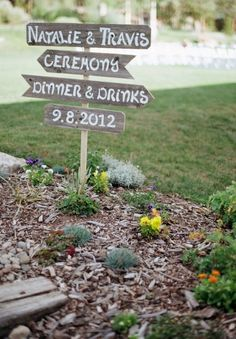 Timber wedding sign DIY
